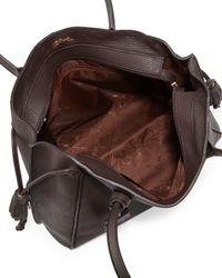Longchamp Gray Penelope Leather Shoulder Bag
