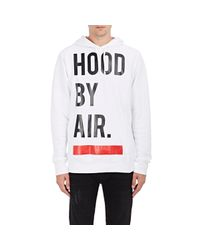 Hood By Air White Classic Hoodie for men
