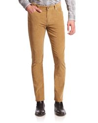 Michael Kors | Natural Slim-fit Corduroy Pants for Men | Lyst