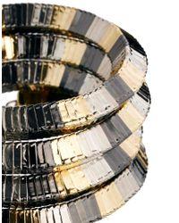 ASOS - Metallic Mix Metal Coil Anklet - Lyst