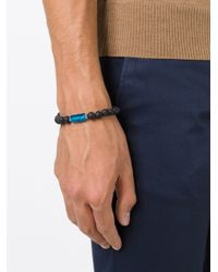 Tateossian | Blue Lava Beaded Bracelet for Men | Lyst