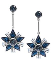 Givenchy - Silver-Tone Blue Crystal Star Drop Earrings - Lyst
