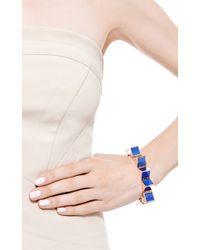 Eddie Borgo - Blue Prism Goldplated and Enamel Bracelet - Lyst