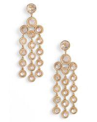 kate spade new york - Metallic Chandelier Earrings - Clear - Lyst