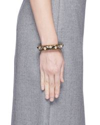 J.Crew - Green Lucite-and-crystal Bracelet - Lyst