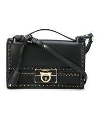 0b8a85e8fb60 Lyst - Ferragamo  aileen  Shoulder Bag in Black