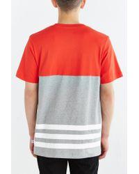 Adidas Orange Originals Colorblock Trefoil Tee for men