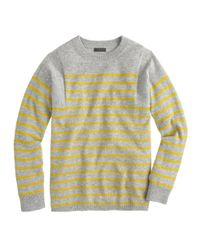 J.Crew - Yellow Collection Cashmere Seamed Sweater In Stripe - Lyst