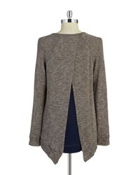 Lord & Taylor | Gray Layered-effect Sweater | Lyst