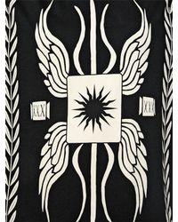 Fausto Puglisi - Black Oversized Gladiator Print Cotton T-shirt - Lyst