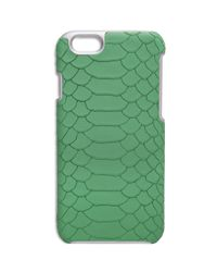 Gigi New York | Green Python-embossed Leather Iphone 6 Case | Lyst