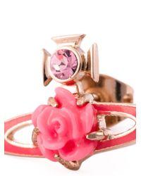 Vivienne Westwood Anglomania | Pink Rose Orbit Earrings | Lyst