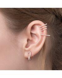 Astrid & Miyu | Metallic Teardrop Ear Jacket In Gold | Lyst