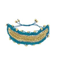 Sam Edelman - Multicolor Macrame Chainmail Adjustable Bracelet - Lyst