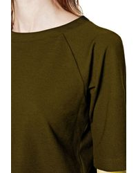 French Connection | Brown Joshua Crop 3/4 Sleeve Top | Lyst