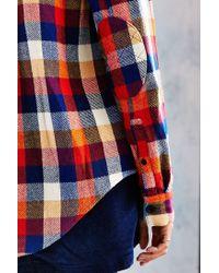 BDG - Gray Oversized Western Sherpa Black Denim Jacket - Womens Xs - Lyst