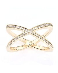 Alexa Leigh | Pink Pave Tryst Ring | Lyst