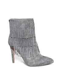 Steve Madden Gray Aces Belt And Hardware Ankle Boots