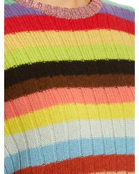 Gucci | Multicolor Rainbow-stripes Cashmere And Wool-blend Cardigan | Lyst