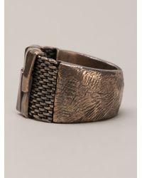 Tobias Wistisen - Metallic Flat Chain Ring for Men - Lyst