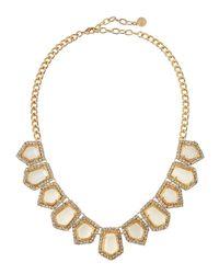 R.j. Graziano - Metallic Crystal Pentagon Bib Necklace - Lyst