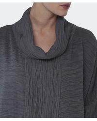 Grizas Gray Silk Waffled Top