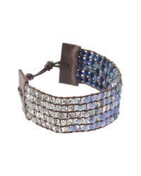 Chan Luu | Blue Cuff Bracelet With Swarovski Crystals | Lyst