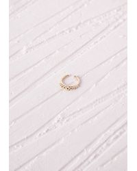 Missguided | Metallic Nose Cuff Gold | Lyst
