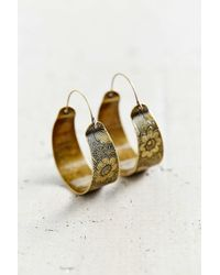 Urban Outfitters | Metallic Escape Hoop Earring | Lyst