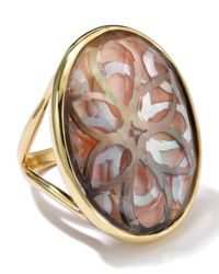 Ippolita - Metallic 18K Gold Polished Rock Candy Oval Cutout Ring In Sabbia - Lyst