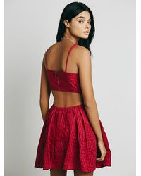 Free People - Red Womens Candyland Fit And Flare - Lyst