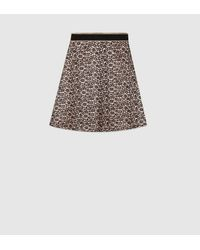 Gucci   Black Lace And Viscose Skirt   Lyst