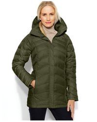 The North Face Green Transit Hooded Down Puffer Coat