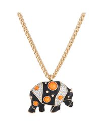 Kenneth Jay Lane | Metallic Women's Rhino Pendant Necklace | Lyst