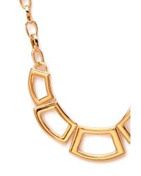 Forever 21 - Metallic Geo Cutout Statement Necklace - Lyst