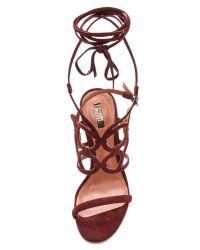 Schutz Purple Naty Cutout Sandals Vino