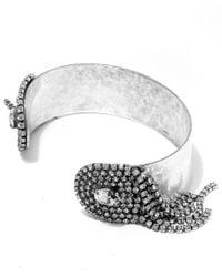 DANNIJO | Metallic Silver-plated Fawcett Crystal Cuff | Lyst