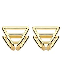 Coops London | Metallic Triangle Squeeze On Earrings | Lyst