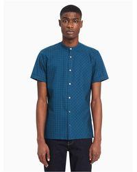 Calvin Klein Blue Big + Tall Printed Short Sleeve Shirt for men
