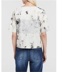 Calvin Klein - Blue Jeans Mixed Media Denim Shell Top - Lyst