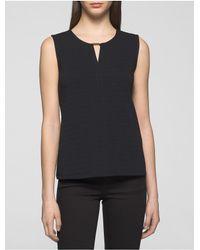 Calvin Klein   Black Textured Bar Plaque Shell   Lyst