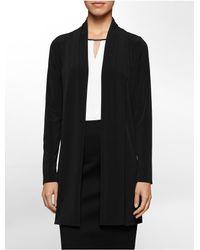 Calvin Klein | Black Lightweight Open Front Cardigan | Lyst