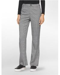 Calvin Klein | Gray Straight Fit Houndstooth Suit Pants | Lyst