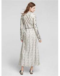 Calvin Klein - Natural Collection Photographic Leopard Combo Print Viscose Crew Neck T Shirt Dress - Lyst