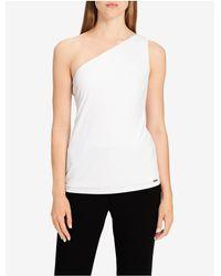 CALVIN KLEIN 205W39NYC - White One Shoulder Top - Lyst