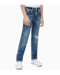 Calvin Klein Straight Jeans in het Blue voor heren