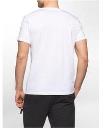 Calvin Klein - White Slim Fit Exploded Wrap Logo T-shirt for Men - Lyst