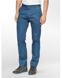 Calvin Klein | Blue Ck One Slim Fit Zip Calvary Twill Pants for Men | Lyst