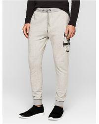 Calvin Klein   Gray Jeans Logo Track Pants for Men   Lyst