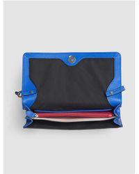 Calvin Klein - Blue Jeans Julienne Leather Clutch - Lyst